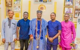 GOLPRONET Visits Oba Oyelude Makama, The Olowu of Owu Kuta
